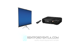 Image of a Projector and Screen package #1