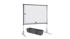 Image of a 7.5 x 10 Fast fold projector Screens / Front and Rear (3:4)