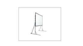 Image of a 10.5 x 14 Fast Fold Projector Screens Front and Rear