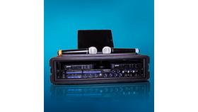 Image of a Portable Karaoke Mixer with mics