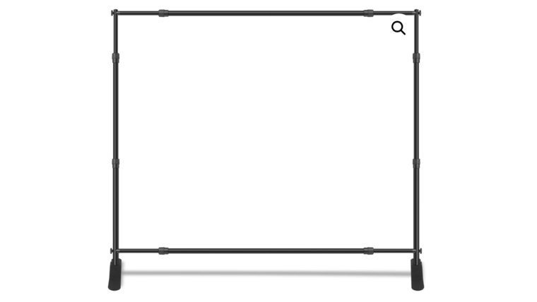 Picture of a 10′ WIDTH AND 8′ TALL TELESCOPIC BANNER STAND
