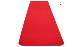 Image of a RED CARPET AISLE RUNNER – 4′ X 10′