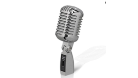 Image of a RETRO DYNAMIC MICROPHONE WITH STAND