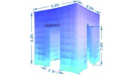 Image of a Inflatable Portable Photo Booth Tent Enclosure