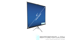 """Image of a Tripod Projection Screen 92"""""""