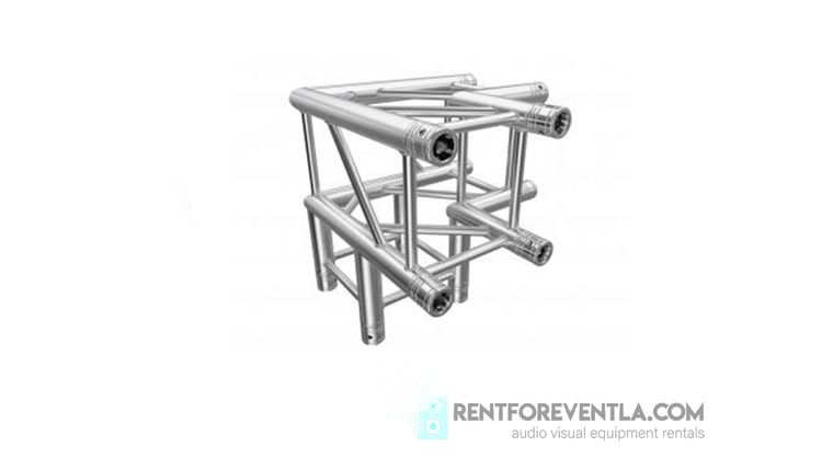 Picture of a 3-Way 90 Degree (21lbs) Square Truss Section