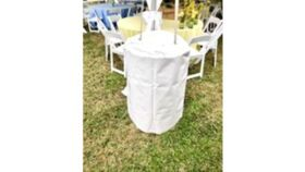 Image of a Tent Water Barrel Covers (30 gal) - Vinyl - White