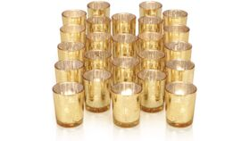 Image of a Votive Candle Holders, Mercury (Gold)