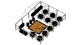 Image of a SPECIAL EVENT STRUCTURE TENT PACKAGE - 80 Guests