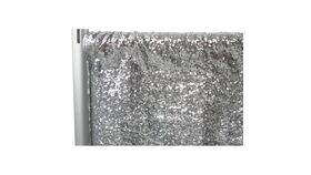Image of a Drapes - 4'Wx14'H - Silver Glitz