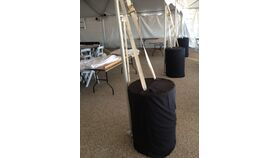 Image of a Tent Water Barrel Covers (55 gal) - Polyester Black