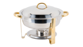 Image of a Chafer - Stainless Steel - 8qt (Round)