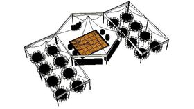 Image of a SPECIAL EVENT FRAME TENT PACKAGE - 160 Guests