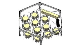Image of a GARDEN TENT PACKAGE - 88 Guests (Hexagon High Peak)