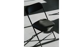Image of a Chair - Black Poly Folding