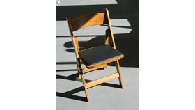 Image of a Chair - Wood with Fruitwood Stain