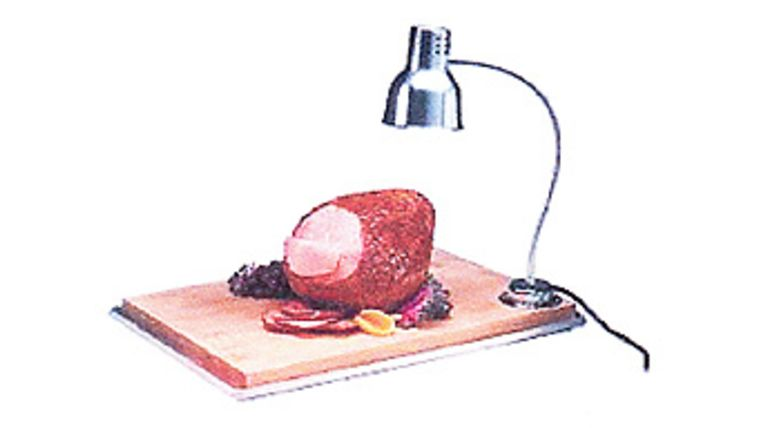 Picture of a Heat Lamp with Cutting Board