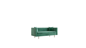 Image of a Vintage Green Velvet Sofa