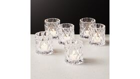Image of a 10 Retro Clear Votive Holders