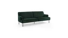 Image of a Army Green Velvet Minimal Couch