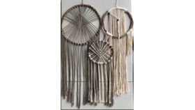 Image of a Dream Catcher, MIXED Grey AND Ivory/Off-White