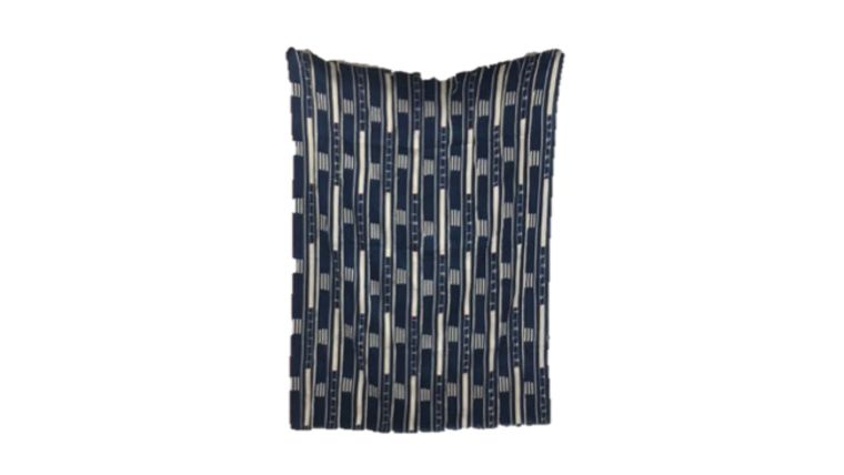 Picture of a Blanket, Baule Style - Mix of Indigo