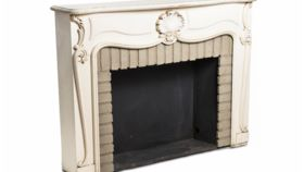 Image of a Fireplace Mantel, Viola