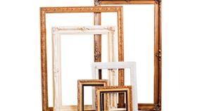 "Image of a Frame, Gold and Black - 18.5""H X 15.25"""