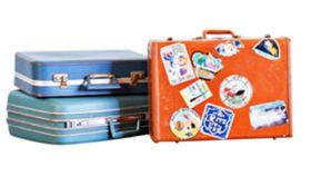 Image of a Suitcase, Blue - Medium