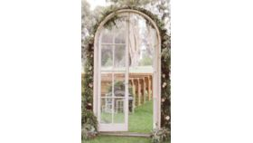 Image of a Arched French Doors - Can Be Freestanding, Functioning Doors