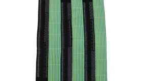 Image of a Blanket, Baule Style - Mix of Green/Navy