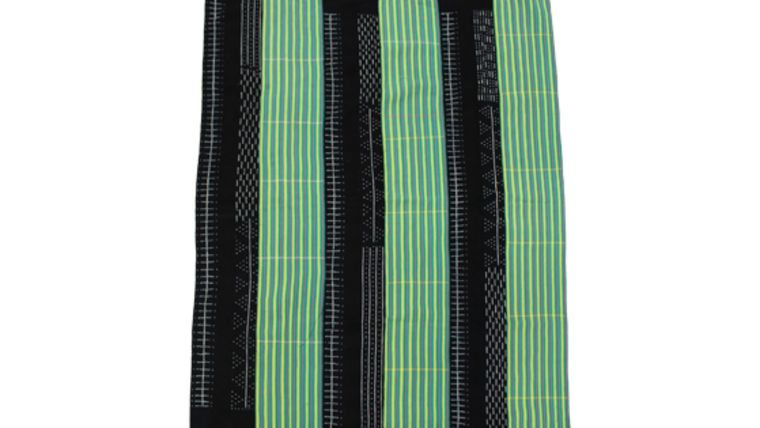 Picture of a Blanket, Baule Style - Mix of Green/Navy