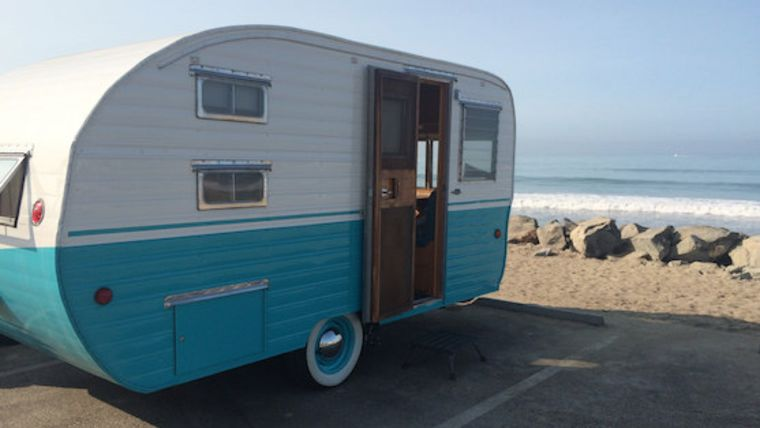 Picture of a 1956 Rainbow Trailer
