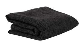 Image of a Blanket, Dark Grey Knit - Chenille
