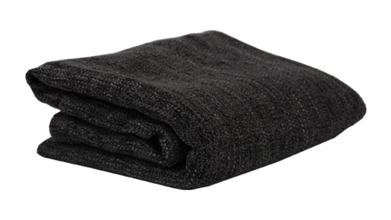 Picture of a Blanket, Dark Grey Knit - Chenille