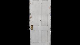 Image of a Farm Doors, White
