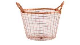 Image of a Basket, Copper - Round