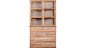 Image of a Armoire, Eloise - Unfinished Wood, Glass Doors