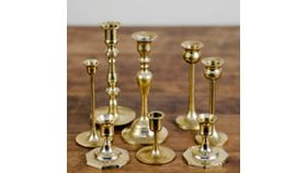 Image of a Candle Holder, Assorted Brass