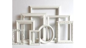 """Image of a Frame, White - 31"""" x 23"""""""
