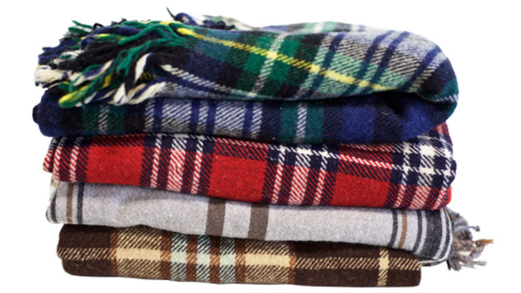 Picture of a Blanket, Plaid Wool Blankets