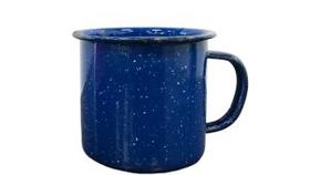 Image of a Coffee Cup, Enamelware - Dark Blue