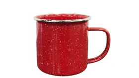 Image of a Coffee Cup, Enamelware - Red