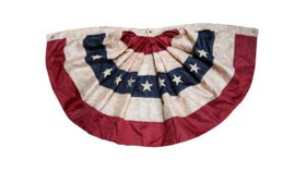 Image of a Bunting, American Flag