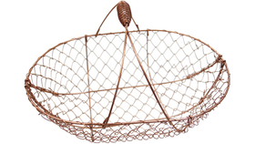 Image of a Basket, Copper Wire
