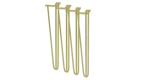 "Image of a -- Hairpin Legs- Gold, 'Littles', 18""H, 3-Pole"