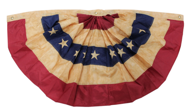 Picture of a Bunting, American Flag