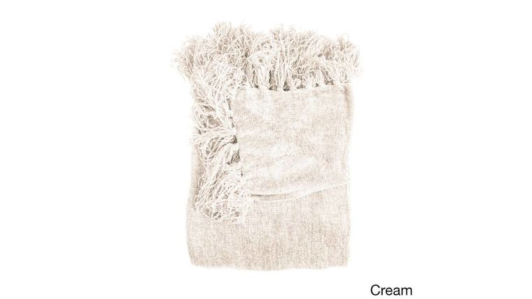Picture of a Blanket, Cream Knit - Tassels