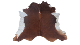 Image of a Cowhide Rug, Brown and White