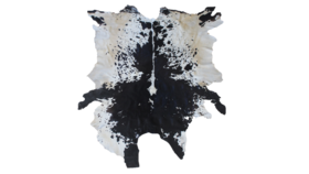Image of a Cowhide Rug, Black and White